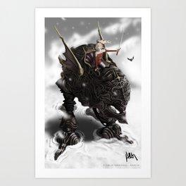 Witch in Magitek Armor Art Print