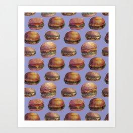 purple burger Art Print
