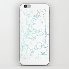 Where We've Been, World, Icy Blue iPhone & iPod Skin