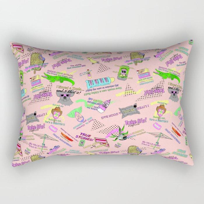 Take Life Mag! Rectangular Pillow