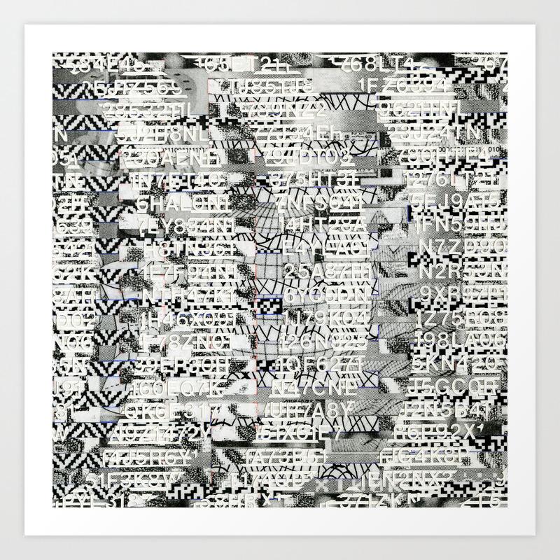 The Eternal Return of the Unique Event (P/D3 Glitch Collage Studies) Art  Print
