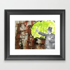 A Lazy Fellow Carries A Burden On His Back Framed Art Print