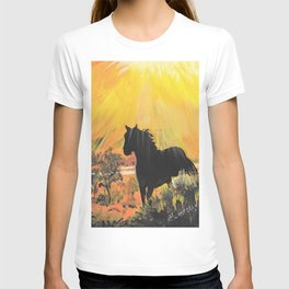 Stallion At Sunset T-shirt