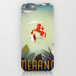 Horse riding, golf and tennis in 1920s Merano iPhone Case