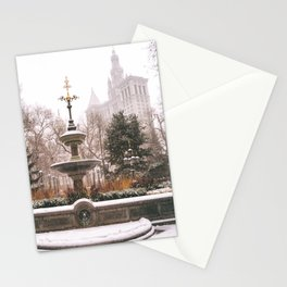 Winter in New York City Stationery Cards
