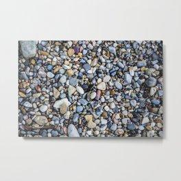 Shellfish and Stones at the beach of Lago di Garda Italy II Metal Print
