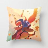 banjo Throw Pillows featuring Banjo Kazooie by Felo