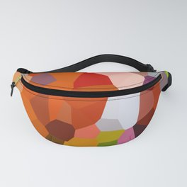 Pixelated Lanterns in Joy and Orange Fanny Pack