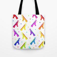 Pattern Unicorn Heads Tote Bag