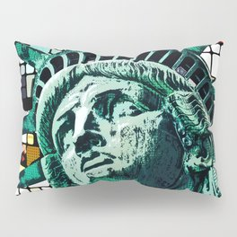 Patriotic Statue of Liberty Pillow Sham