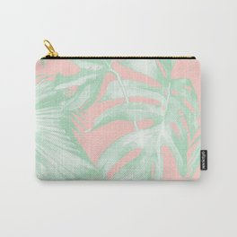 Island Love Seashell Pink + Light Green Carry-All Pouch
