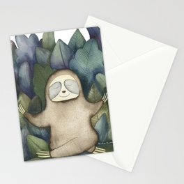 Sloth Yoga Stationery Cards