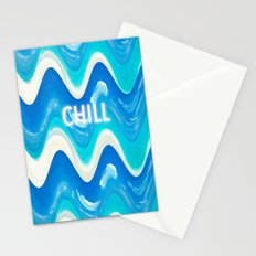 CHILL BEACH WAVE Stationery Cards