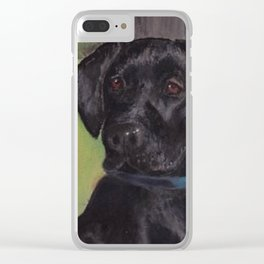 Black Lab Clear iPhone Case