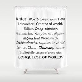 Writer Shower Curtain