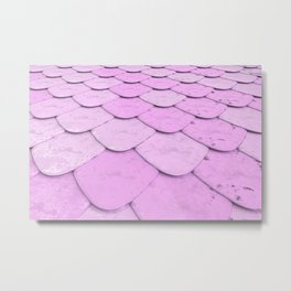 Pattern of purple rounded roof tiles Metal Print