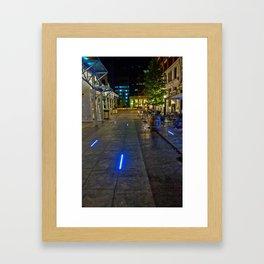 Walkway of Lights Framed Art Print