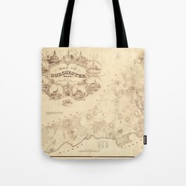 Map Of Dorchester 1850 Tote Bag