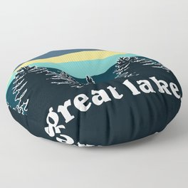Great Lakes Tree Line Floor Pillow