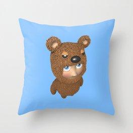Furry baby Throw Pillow