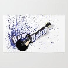 Hey Baby Guitar Rug