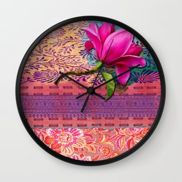 Memory of a day in the gardem Wall Clock