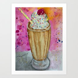 chocolate milkshake Art Print