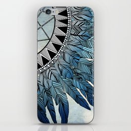 blue feather dreamcatcher iPhone Skin
