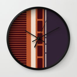 Stitched Leather Stripes  Wall Clock