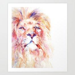 Mkuu  African Lion Art Print