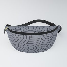 Circle Swirl Pattern Grayish Blue Inspired By VA Hazy Blue, Seattle Haze Blue Gray, Twinkle Twinkle Fanny Pack