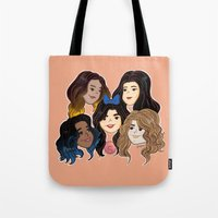 fifth harmony Tote Bags featuring Fifth Harmony by SurpriseMila