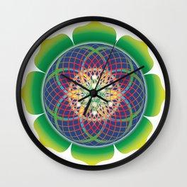 Metatrons cube flower of life mandala Wall Clock