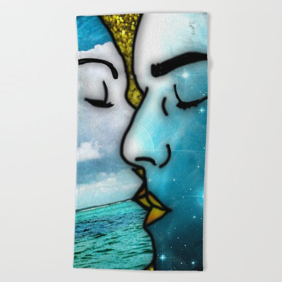 Lover's Kiss Beach Towel