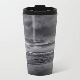 Seascape in Black and White Travel Mug