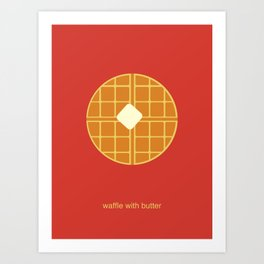 waffle with butter Art Print