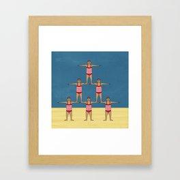 Swimsuit Team 01 Framed Art Print