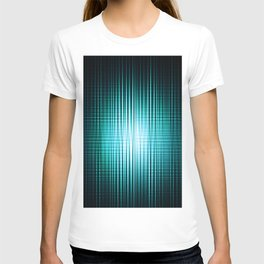 vertical and horisontal blue stripes T-shirt