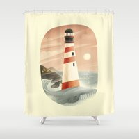 the whale Shower Curtains featuring Whale by Seaside Spirit