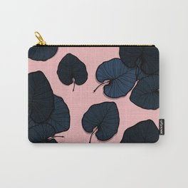 Palm leaves navy Carry-All Pouch