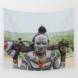 Karo Tribe V Wall Tapestry