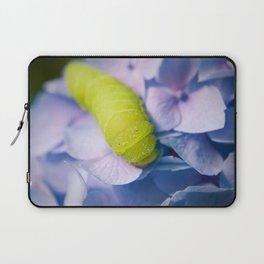 Actias Luna Larva on Hydrangea Nature Photo Laptop Sleeve
