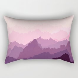 Mountains in Pink Fog Rectangular Pillow
