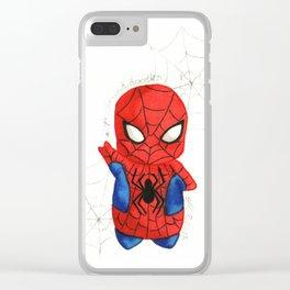Spider-man Friendly Neighborhood Chibi Clear iPhone Case