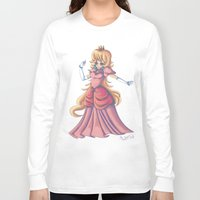 princess peach Long Sleeve T-shirts featuring Princess Peach by Christine Tribou