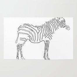 Stunning Black and White Zebra Rug