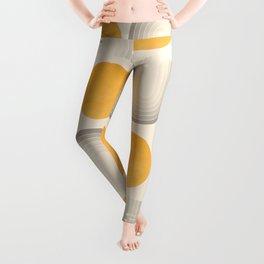 Abstraction_SUN_DOUBLE_YELLOW_RAINBOW_ART_Minimalism_001AA Leggings