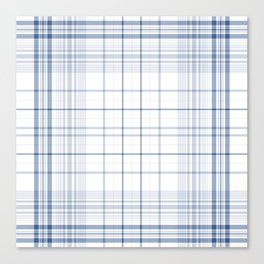 Spring Summer Aqua Plaids , tartans , checks, ss2018 Canvas Print