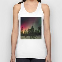 northern lights Tank Tops featuring Northern Lights  by Limitless Design