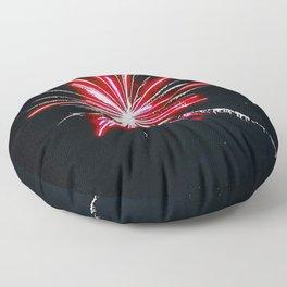 RED FIREWORK Floor Pillow